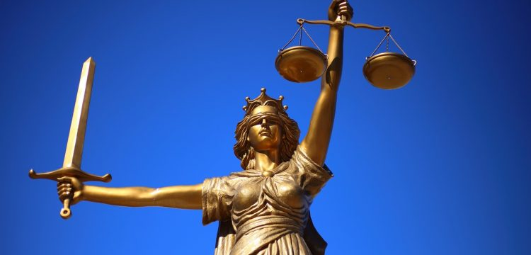 Statue representing justice or the law.