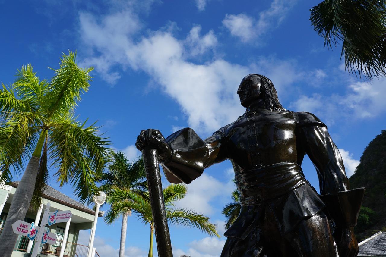 Statue in St. Maarten.